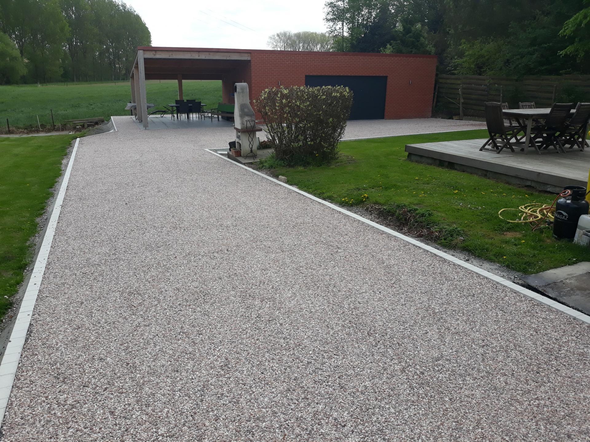 Amenagement Exterieur En Cailloux daniel moquet, aménagement cour, allée de jardin et terrasse