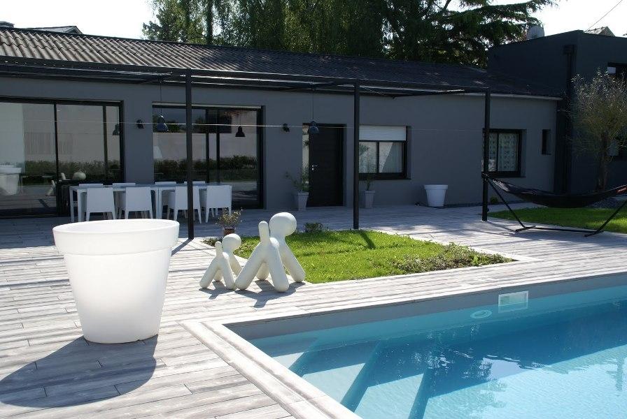 Terrasse boib pour am nagement d 39 all e du r seau de - Idee terrasse exterieure contemporaine ...